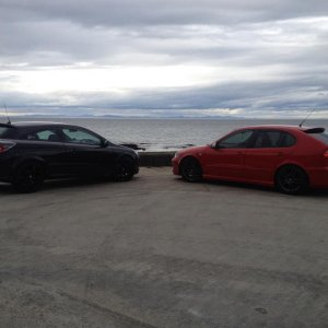 Lossiemouth Harbour and my mates Leon Cupra 1.9